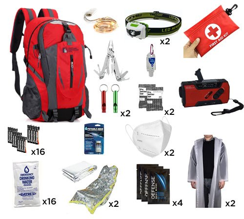 2 person emergency bag