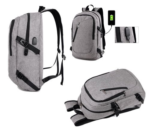 Other images of the gray backpack