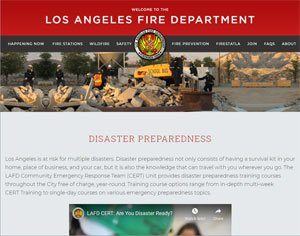 LA Community Emergency Response Team website image