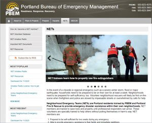 Portland Neighborhood Emergency Team website image