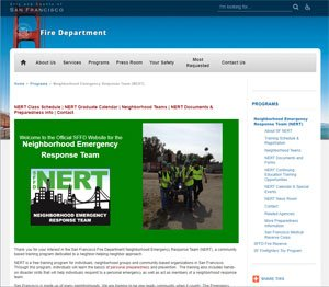 San Francisco Community Emergency Response Team website image
