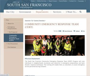 South SF Community Emergency Response Team website image