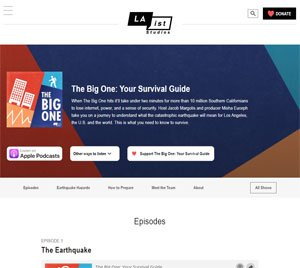 The Big One - podcast about preparing for a big earthquake