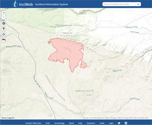 Website for wildfire management