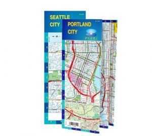 Laminated city map of Portland or Seattle